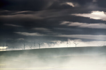 Great Britain, Scotland, East Lothian, Lammermuir HIlls, Crystal Rig Wind Farm - SMAF00895