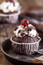Black forest cherry muffins with cream topping and cherry - SBDF03404