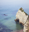 France, Upper Normandy, near Etretat, Natural arch Porte d'Amaont - DWIF00888