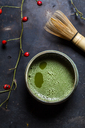 Japanese Matcha in bowl with chasen - SBDF03412