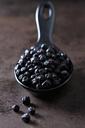 Spoon of dried chokeberries on rusty metal - CSF28621
