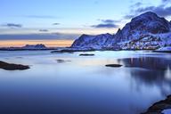 Norway, Lofoten Islands, Sorvagen at night - VTF00616