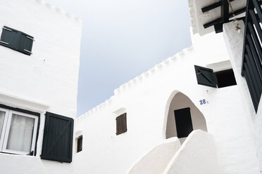 Spain, Menorca, Binibequer Vell, white traditional small village, Houses - IGGF00272