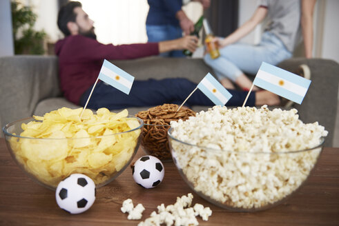 Close up of snacks for football fans - ABIF00081