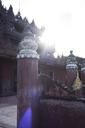 Mynamar, Amarapura, Bagaya Monastery against the sun - IGGF00284