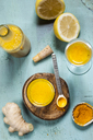 Detox drink, ginger, lemon and orange juice with curcuma and chilli powder - SBDF03422