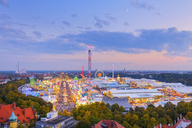 Germany, Bavaria, Munich, View of Oktoberfest fair on Theresienwiese in the evening - SIEF07656