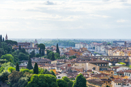 Italy, Tuscany, Florence, Old town with Arno river and Ponte Vecchio - CSTF01539