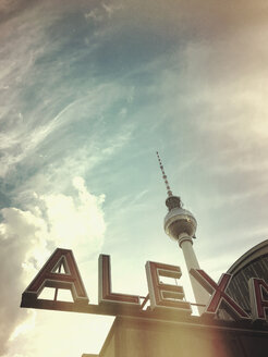 Germany, Berlin, Alexanderplatz, TV tower - GW05337