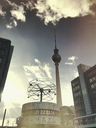 Germany, Berlin, Alexanderplatz, TV tower - GW05346