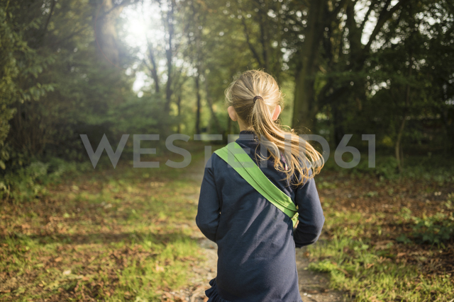 Rear view of girl in a forest - MOEF00564