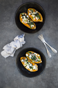 Filled sweet potato with spinach, red onion, couscous, feta and coriander - LVF06537