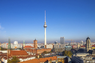 Germany, Berlin, Berlin-Mitte, Berlin TV Tower and Red city hall - PUF00988