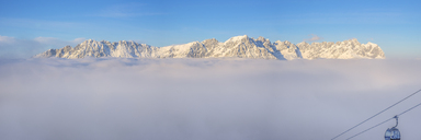 Austria, Tyrol, Panoramic view of Kaiser Mountains, Wilder Kaiser and Zahmer Kaiser - MMAF00202