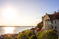 Germany, Baden-Wuerttemberg, Lake Constance, Meersburg, Meersburg Castle against the sun - PUF01032