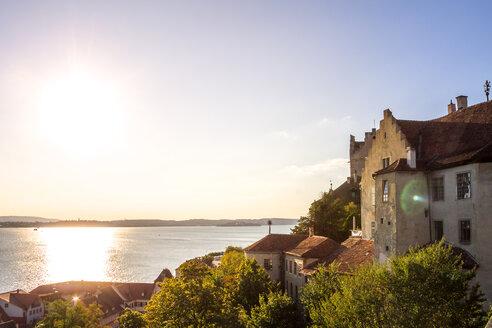 Germany, Baden-Wuerttemberg, Lake Constance, Meersburg, Meersburg Castle against the sun - PUF01032
