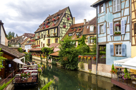 France, Colmar, Old town, half-timbered houses in Little Venice - PUF01052