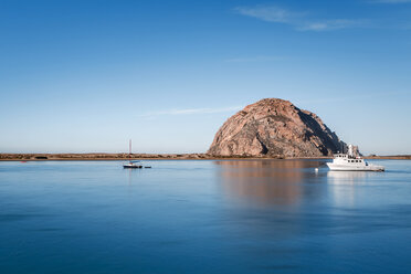 USA, California, Morro Bay, ship in the port of Morror Bay - WVF00862