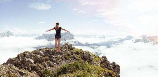 Austria, South Tyrol, hiker - FKF02864