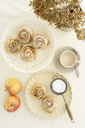 Home-baked apple tart with rose pattern - ECF01946