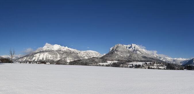 Austria, Styria, Salzkammergut, Bad Aussee, Ausseerland, left Loser, right Tressenwand - WWF04000