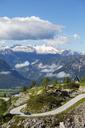 Austria, Styria, Salzkammergut, Ausseerland, View from Loser scenic road to Dachstein - WWF04028