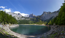 Austria, Upper Austria, Salzkammergut, Gosau, Hinterer Gosausee, Holzmeisteralm, Dachstein massif - WWF04034