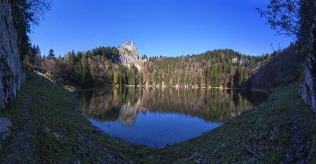Austria, Salzkammergut, St. Wolfgang, Schafberg, Moenichsee with Toerlspitz, panoramic view - WWF04094