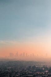 USA, California, Los Angeles, smog over Los Angeles - WVF00877