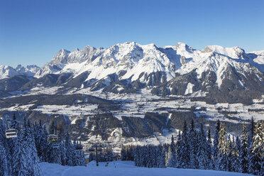 Austria, Styria, Liezen District, Ramsau am Dachstein, Dachstein massif, View from Reiteralm - WWF04108