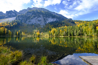Germany, Bavaria, Upper Bavaria, Chiemgau, Inzell, Frillensee in autumn - LBF01727