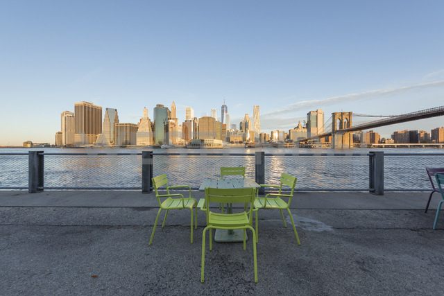 USA, New York City, Manhattan, Brooklyn, cityscape from the waterfront - RPSF00164