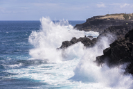 Reunion, West Coast, rocky coast at Souffleur - FOF09655