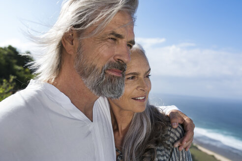 Portrait of a handsome senior couple at the sea - SBOF01061