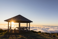 Reunion, Reunion National Park, Maido viewpoint, View from volcano Maido, picnic place to sea of clouds and sunset - FOF09675
