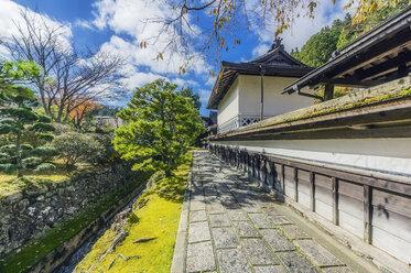 Japan, Koya-san, building exterior and park - THAF02076