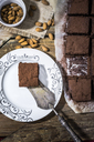 Homemade brownie on plate - GIOF03750