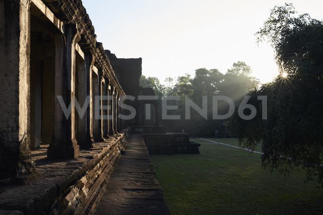 Cambodia, Siem Reap, Angkor Wat Temple at sunrise - IGGF00399