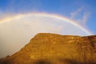 Spain, Canary Islands, La Gomera, Valle Gran Rey, rain bow - SIEF07670
