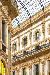 Italy, Milan, part of facade of Galleria Vittorio Emanuele II - CSTF01616