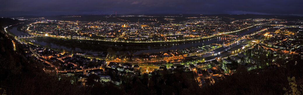 Germany, Rhineland-Palatinate, Trier, cityscape at night - THGF00037
