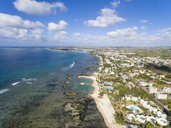 Mauritius, East Coast, Pointe aux Biches, aerial view - FOF09697