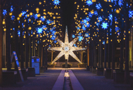 Germany, Berlin, Christmas decoration, Moravian star - ASCF00763