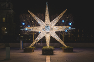 Germany, Berlin, Christmas decoration, Moravian star - ASCF00766