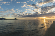 Mauritius, West Coast, Riviere Noire, Le Morne Brabant, sunset - FOF09749
