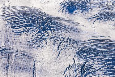 Switzerland, Valais, Zermatt, Gorner Glacier, detail, furrows - WDF04342