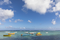 Mauritius, West Coast, Indian Ocean, Trou Aux Biches, fishing boats - FOF09774