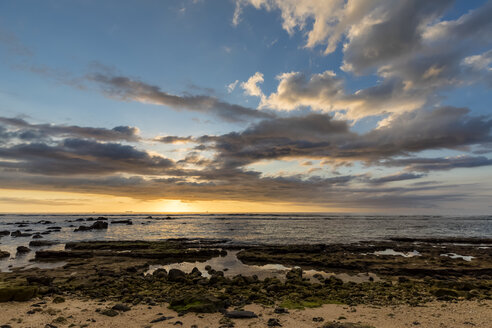 Mauritius, West Coast, Indian Ocean, sunset - FOF09783