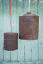 Upcycling of old tin cans, lamps - GISF00293