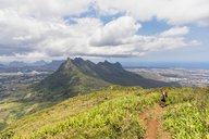 Mauritius, Le Pouce Mountain, Snail Rock and Port Louis, hiker - FOF09802